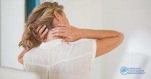 Concussion symptoms and neck injury
