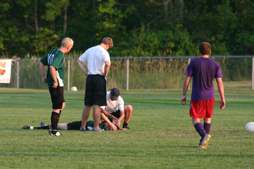 Concussion on Soccer Field
